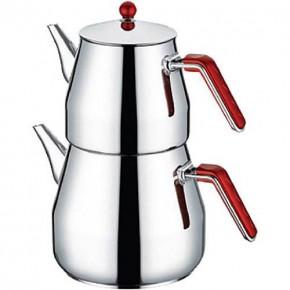 ALECTRA Battal Boy Çaydanlık- Maksi Çaydanlık Paslanmaz 6,20 lt