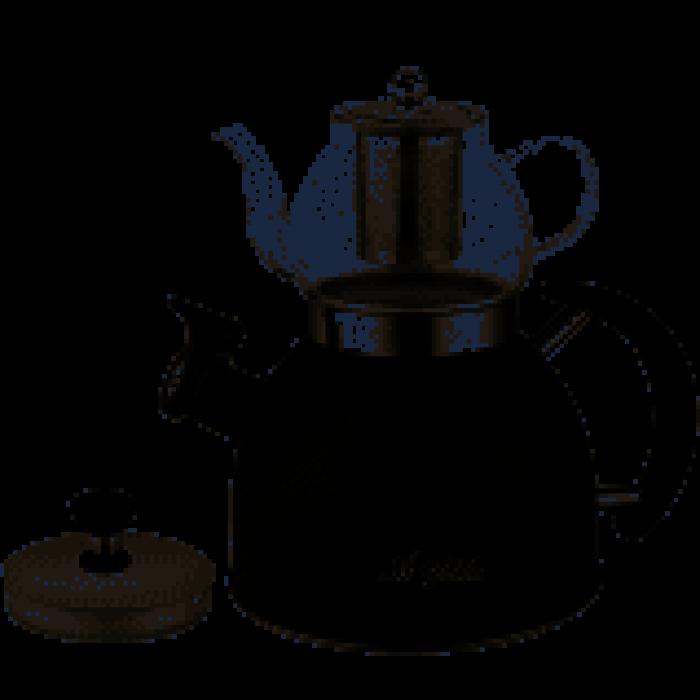 Aryıldız 10001 Kettle Manıa siyah Çaydanlık